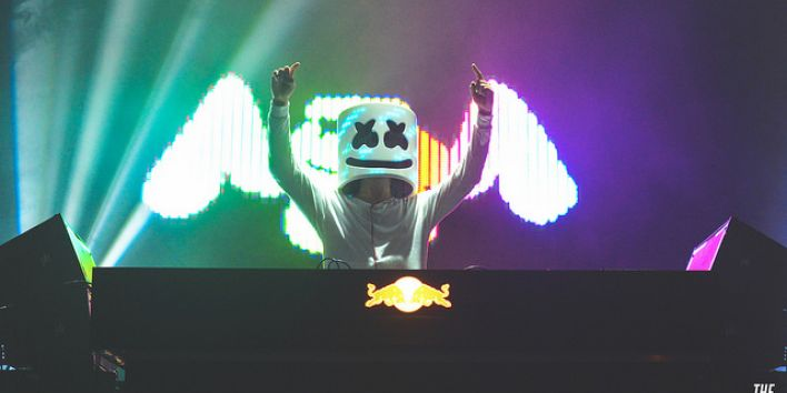 Marshmello in Mad Decent Block Party at Fort York Garrison Commons in Toronto on August 19th, 2016