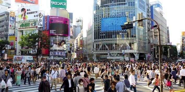 japan people street crowd