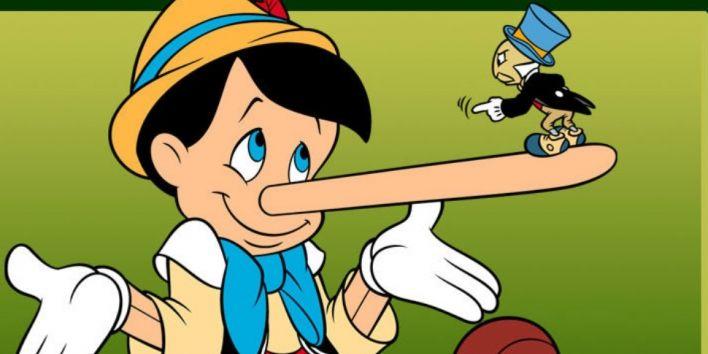 pinocchio to lie