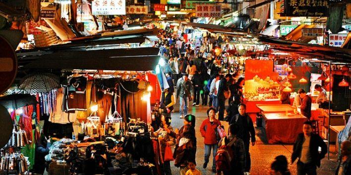 hong-kong market people