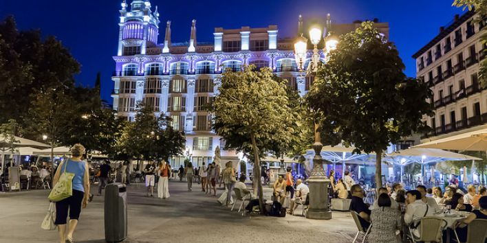madrid people spain terraces drinks