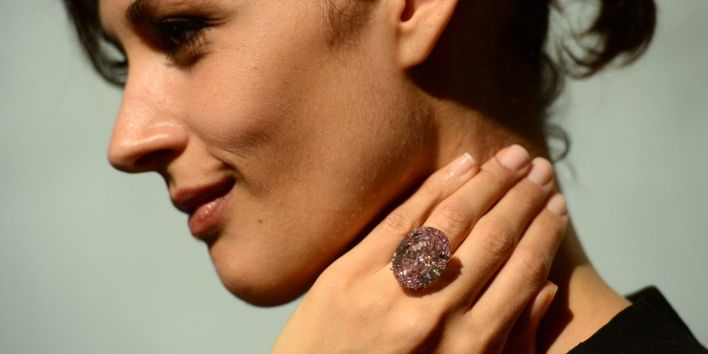 US-AUCTION-PINK DIAMOND-SOTHEBY'S
