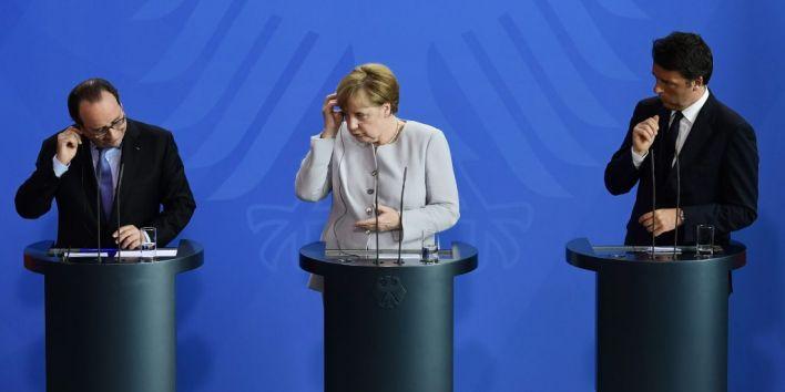 Hollande - Merkel -Renzi