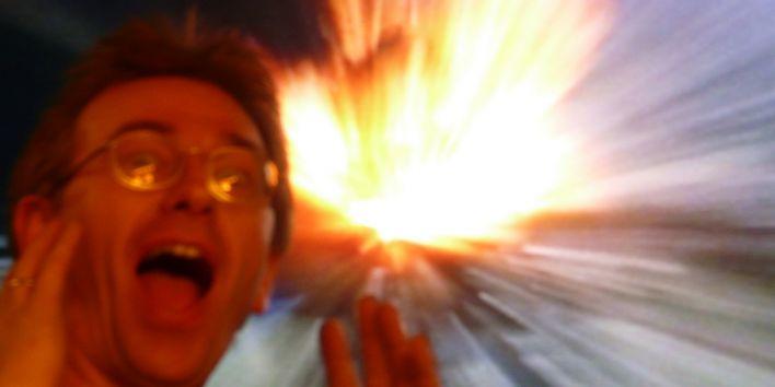 television explosion overwhelmed emotion surprise