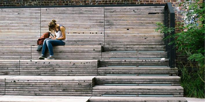 girl woman write study book student writer