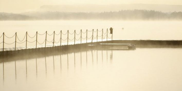 lake silence nature