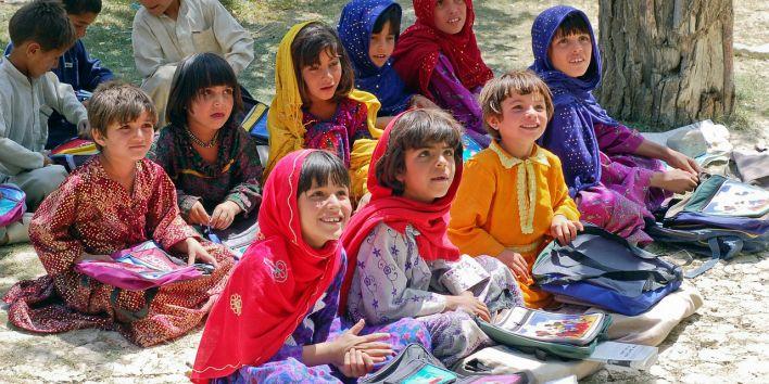 children poor school happy