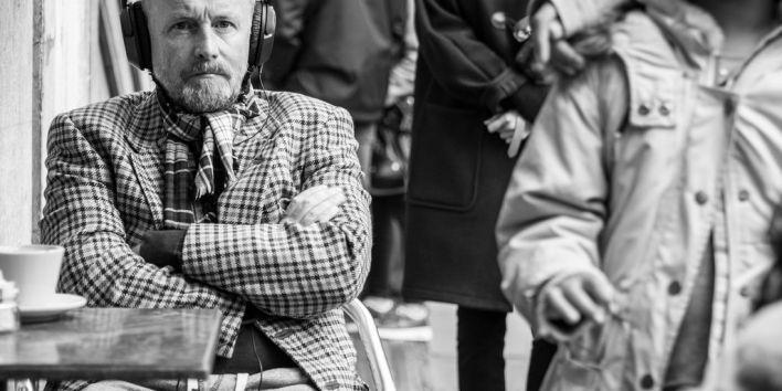 man midlife crises losing hair music headphone