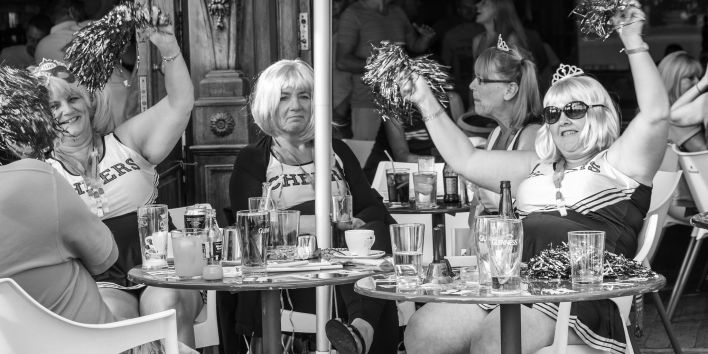 Benidorm spain party drinks women bar terrace