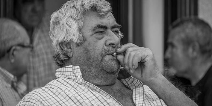 man big cigar smoke fat