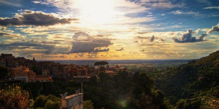 Tivoli italy travel roadtrip sunset