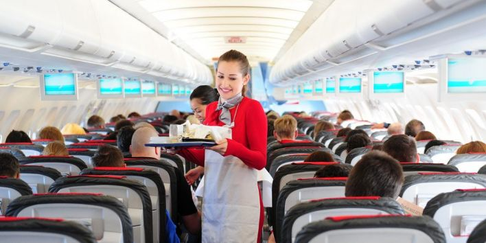 stewardess plane food