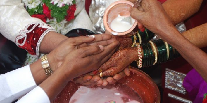 india marriage hands henna