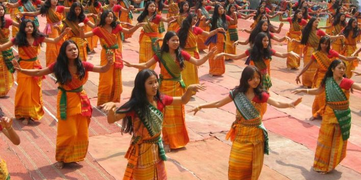 bodoland india dance girls