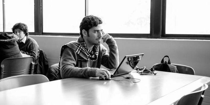 man student laptop think work study flickr Francisco Osorio
