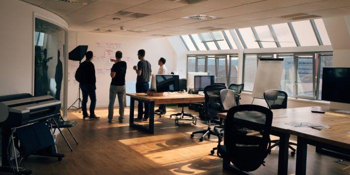 team work office brainstorm
