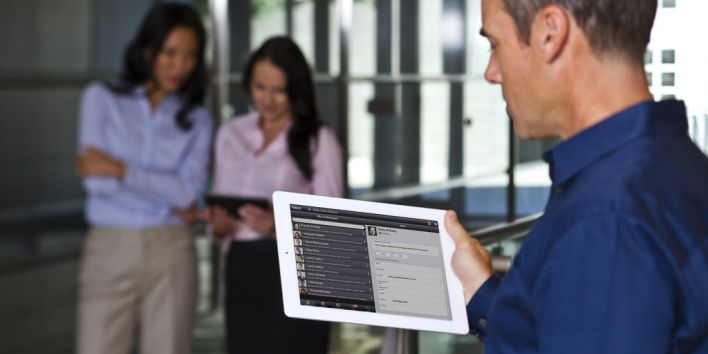 work screen office tablet
