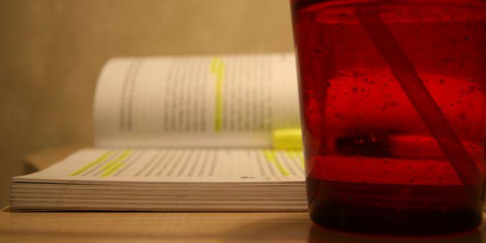 book marker read study glass break work procrastination