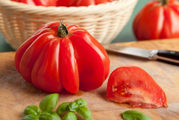 Gevulde Coeur de Boeuf tomaten