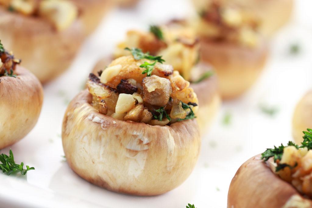 Gezond recept met opgevulde champignons en pancetta