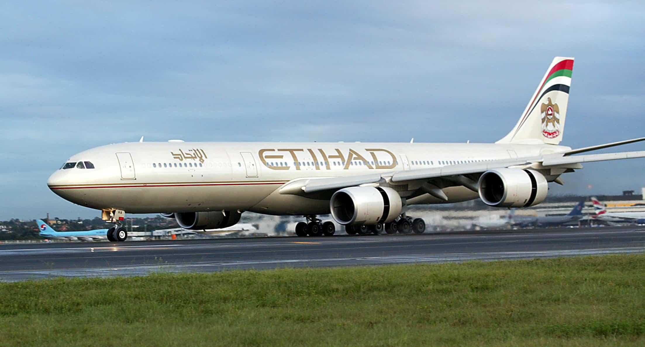 Een vliegtuig van Etihad