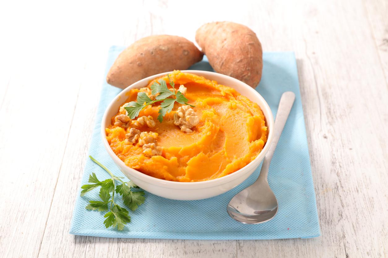 Purée de patates douces à la carotte