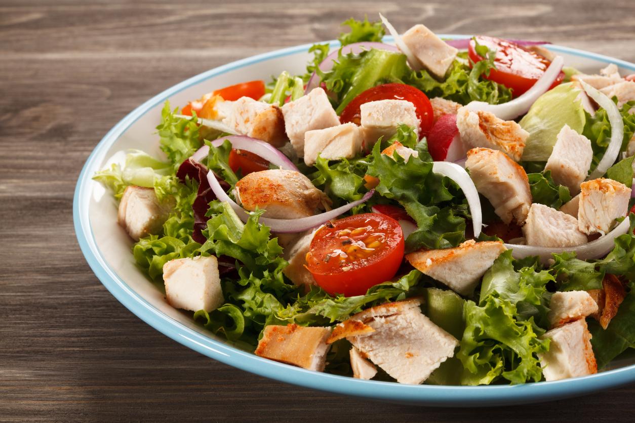 Salade César au filet de poulet rôti :