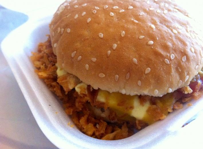 Inhoud van een fast food burger voor Dummies