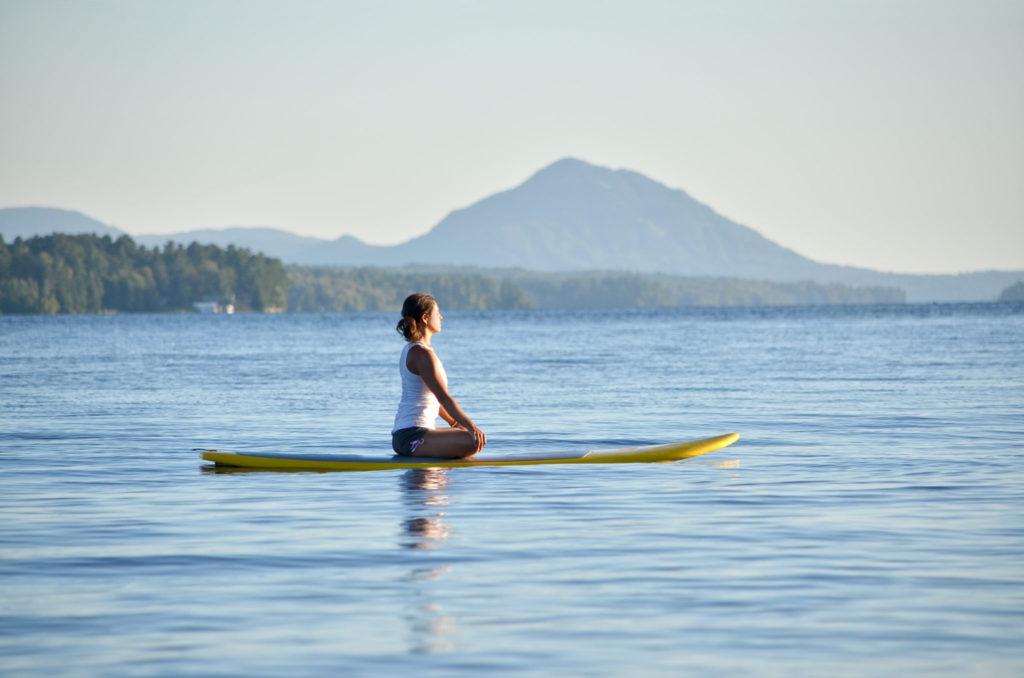 Nieuwe hype: yoga op het water