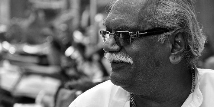 older man happy smile sunglasses