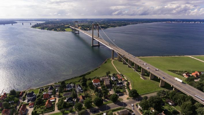 Een brug in Denemarken.