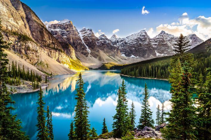 Een prachtig landschap in Canada.