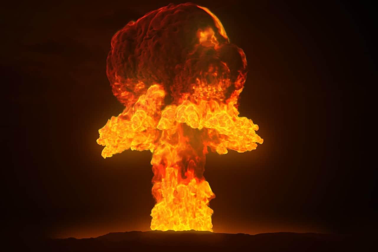 Une explosion de bombe nucléaire