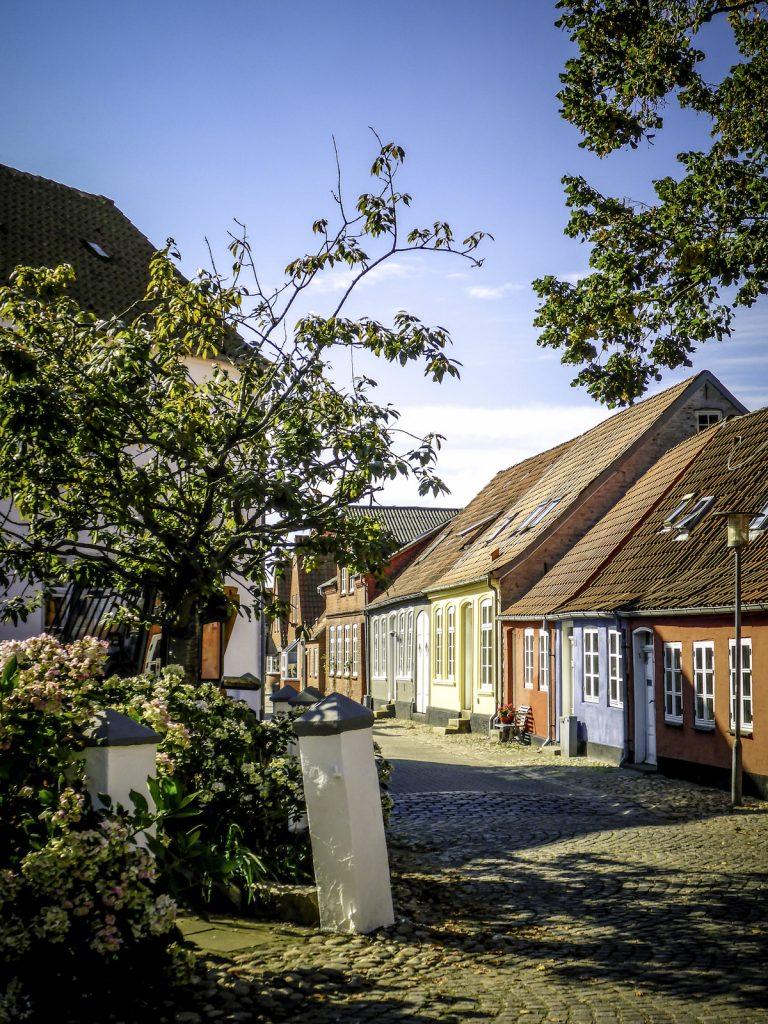 Odense, slenterstraatje in ouder gedeelte
