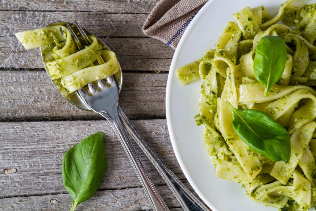 Pasta pesto met groene groenten