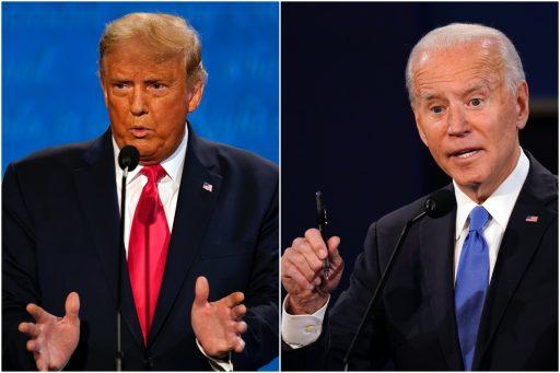 Beschaafd debat tussen Biden en Trump eindigt op gelijkspel, met moderator als winnaar
