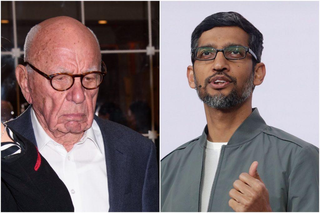 Rupert Murdoch en Sundar Pichai