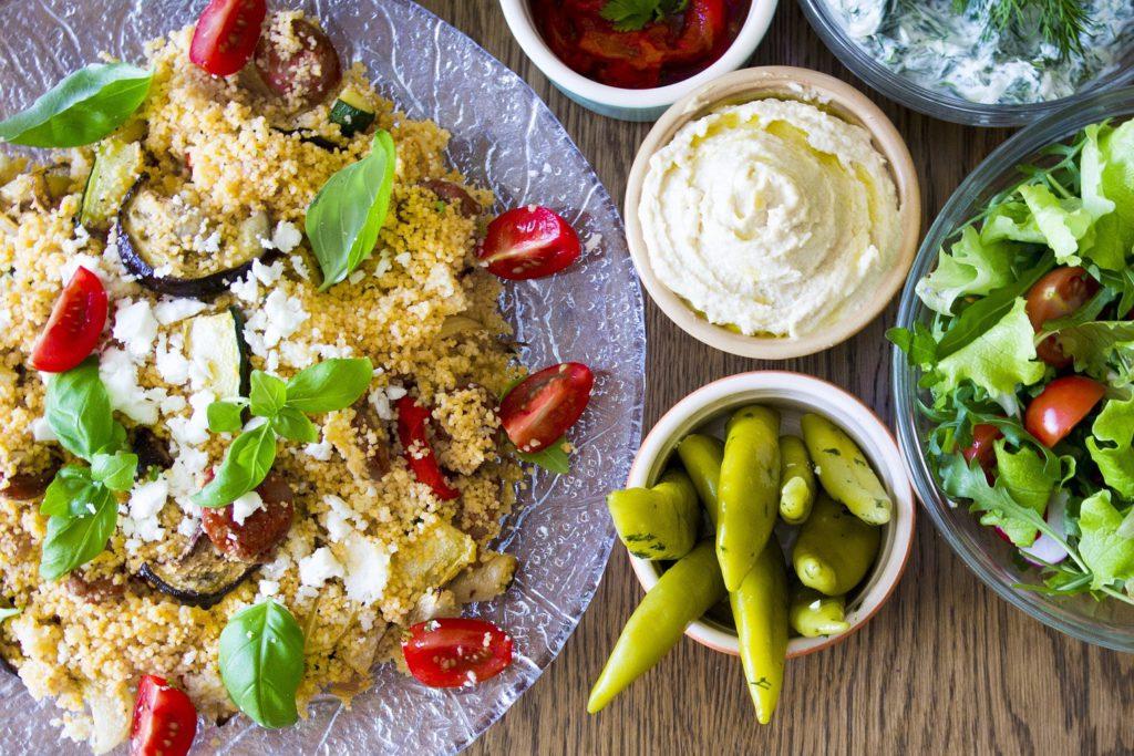 Recept : Couscous met groenten en gegrilde kip