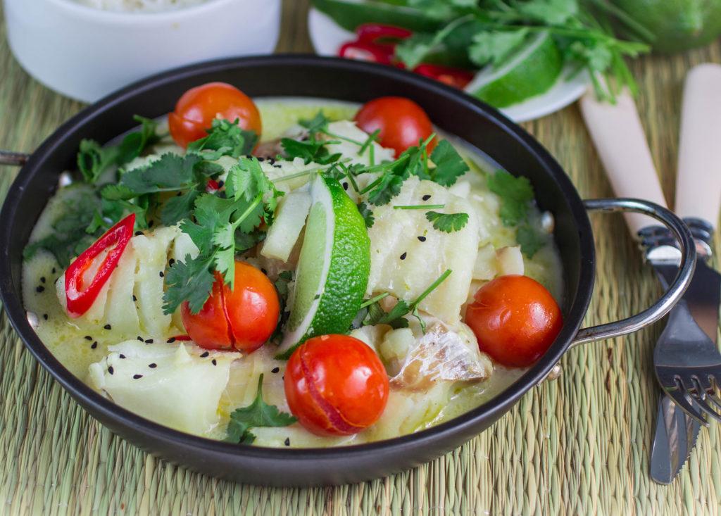 Recept: vis met kruiden en kokosmelk