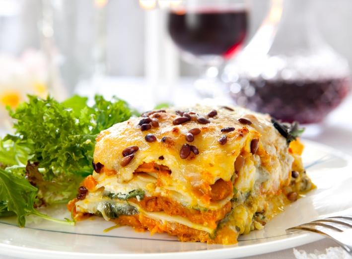 Recette saine de lasagne au potiron