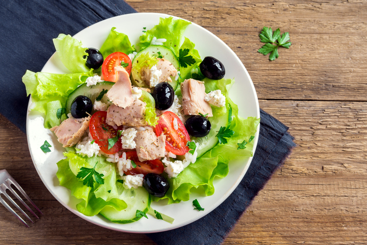 Une salade de thon santé