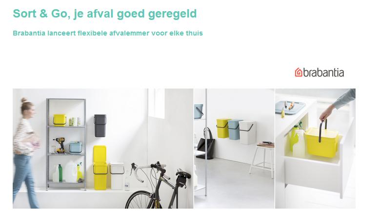 Sort & Go, je afval goed geregeld – Brabantia lanceert flexibele afvalemmer voor elke thuis