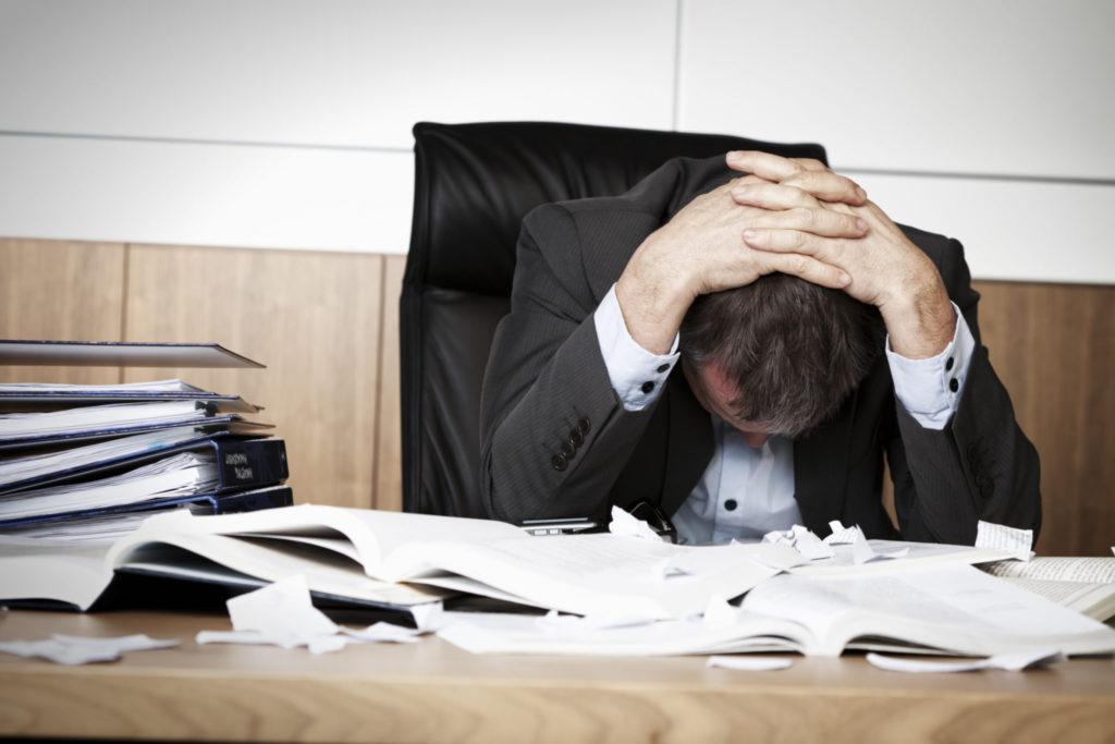 De symptomen van overwerktheid
