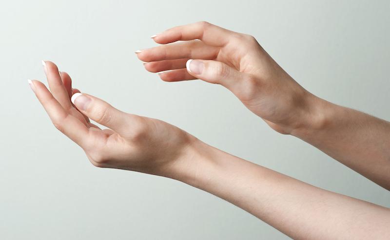 Tintelende of gevoelige vingers of hand?