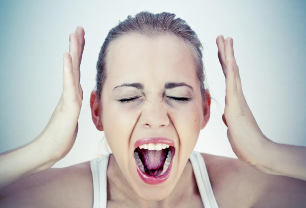 Uitslag in het gezicht door te veel stress