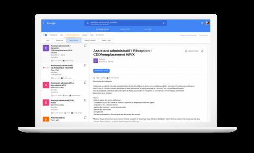 Google simplifie la recherche d'emplois sur son moteur de recherche