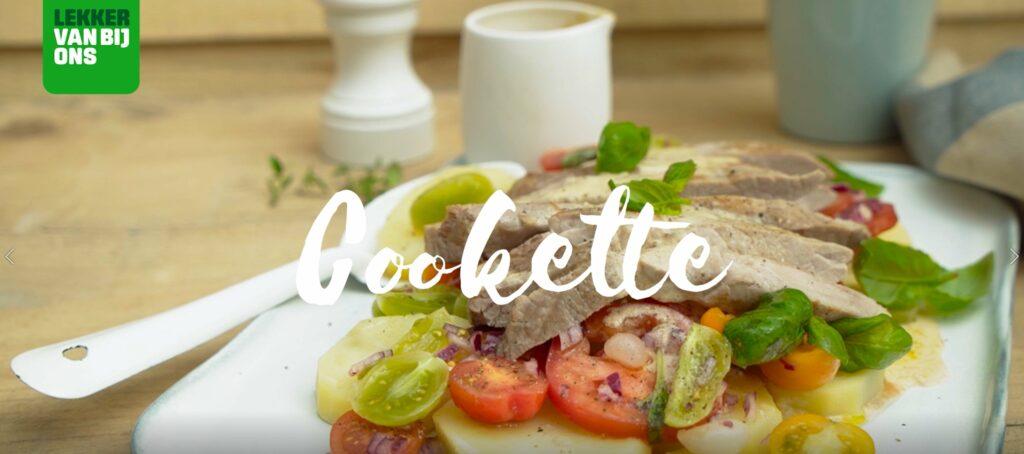 Recept: frisse aardappel-tomatensalade met varkensspiering