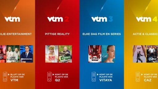 VTM 'kleurt je dag' opnieuw en voert Q2, Vitaya en CAZ af