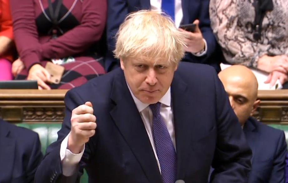 De brexitdeal van Boris Johnson kreeg in het Lagerhuis 358 stemmen voor en 234 stemmen tegen. - EPA/UK