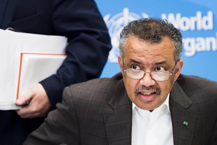 Directeur-generaal van de Wereldgezondheidsorganisatie Tedros Adhanom Ghebreyesus heeft op donderdag de noodtoestand uitgeroepen. - JEAN-CHRISTOPHE BOTT.